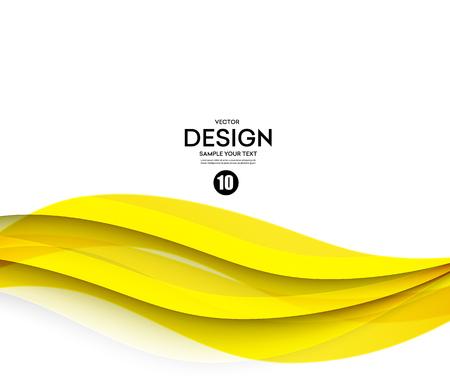 Ilustración de Abstract smooth color wave vector. Curve flow yellow motion illustration - Imagen libre de derechos