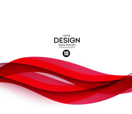 Illustration for Abstract smooth color wave vector. Curve flow red motion illustration - Royalty Free Image