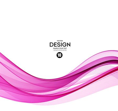 Illustration pour Abstract smooth color wave vector. Curve flow pink motion illustration - image libre de droit