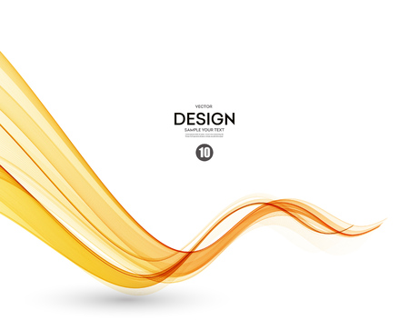 Illustration for Abstract orange color wave design element. Abstract smooth color wavy vector. Curve flow orange motion illustration. Orange smoke wave lines. Orange wave - Royalty Free Image