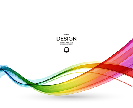 Ilustración de Abstract wave vector background, rainbow  waved lines. - Imagen libre de derechos
