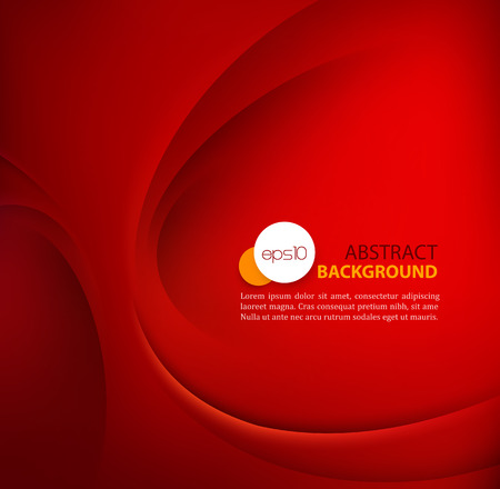 Illustration for Red vector Template Abstract background with curves lines and shadow. - Royalty Free Image