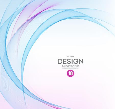 Illustration pour Abstract vector background, blue and purple waved lines for brochure, website, flyer design.  illustration eps10 - image libre de droit
