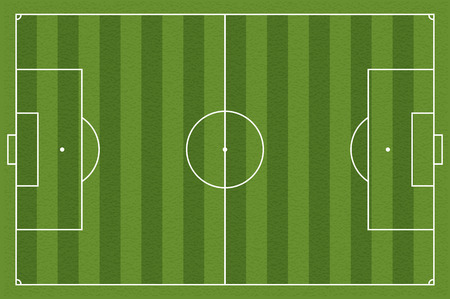 Soccer field, illustration. Football field with lines and areas. Marking the football field. soccer field size regulations.  105:68 m
