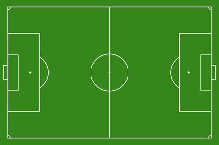 Soccer field, illustration  Football field with lines and