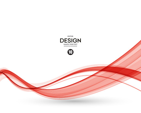 Illustration pour Abstract smooth color wave vector. Curve flow red motion illustration - image libre de droit