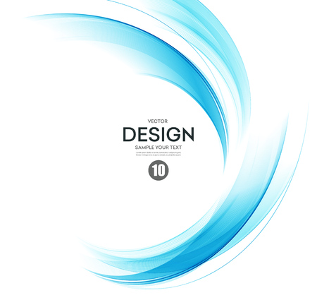 Illustration pour Abstract vector background, blue transparent waved lines for brochure, website, flyer design.  Blue smoke wave. Blue wavy background - image libre de droit
