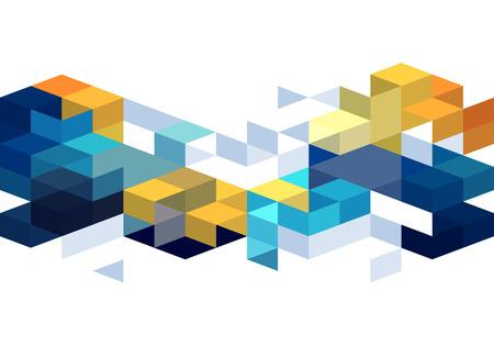 Ilustración de Abstract background with orange and blue color cubes for design brochure, website, flyer. EPS10 - Imagen libre de derechos