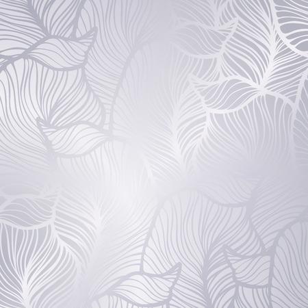 Photo pour Vector vintage silver card with seamless damask pattern EPS 10 - image libre de droit
