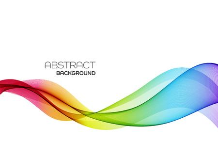 Illustration pour Abstract vector background, color flow waved lines for brochure, website, flyer design. Transparent smooth wave - image libre de droit