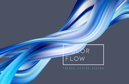 Illustration pour Abstract colorful vector background, color flow liquid wave for design brochure, website, flyer. Stream fluid. Acrylic paint - image libre de droit
