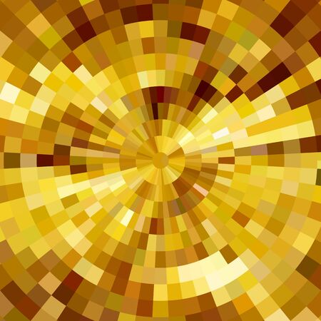 Illustration for Abstract shining concentric mosaic vector background. Poster music design - Royalty Free Image
