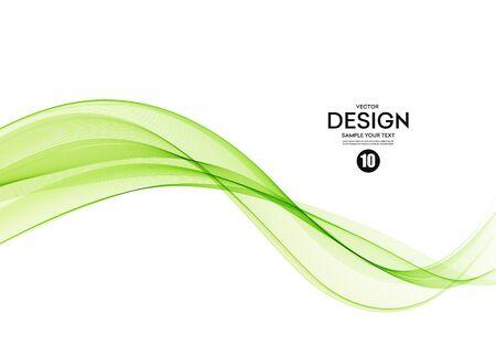 Illustration for Abstract colorful vector background, color wave for design brochure, website, flyer. - Royalty Free Image