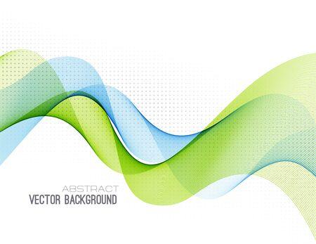 Illustration pour Abstract colorful vector background, color wave for design brochure, website, flyer. - image libre de droit