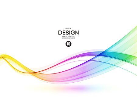 Illustration pour Abstract shiny color spectrum wave design element - image libre de droit