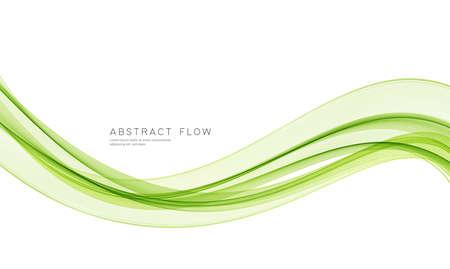Ilustración de Vector green color abstract wave design element - Imagen libre de derechos
