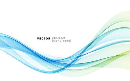 Illustration pour Vector blue color abstract wave design element - image libre de droit