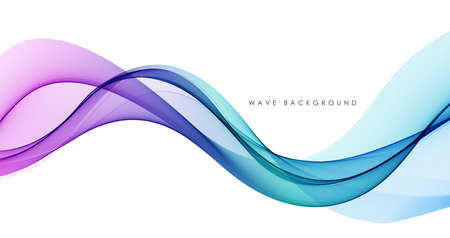 Illustration pour Vector abstract colorful flowing wave lines isolated on white background. Design element for technology, science, music or modern concept. - image libre de droit