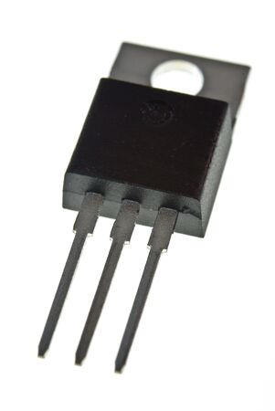 Power transistor view from bottom front