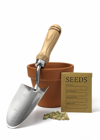Garden seeds and seed packet
