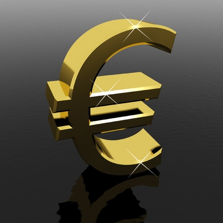 Gold Euro Sign As Symbol For Money Or Wealth