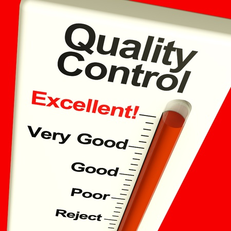 Quality Control Excellent Monitor Showing High Satisfaction And Perfection