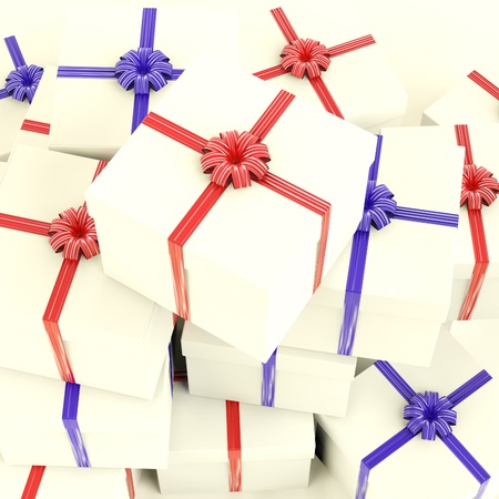 Stack Of Giftboxes As Presents For Family And Friends
