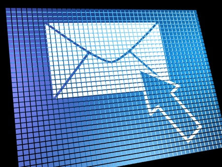 Email Icon Being Selected On Screen Shows Emailing Or Contacting