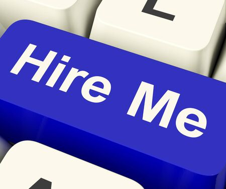 Hire Me Computer Key Shows Work And Careers Search Online