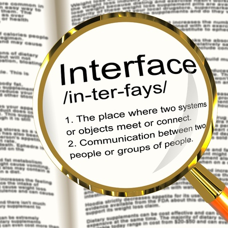 Interface Definition Magnifier Shows Control Connection And Interfacing