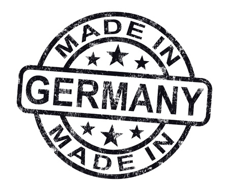 Made In Germany Stamp Showing German Product Or Produce