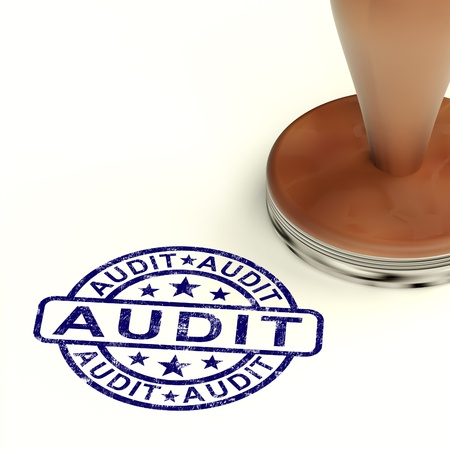 Audit Stamp Shows Financial Accounting Examination
