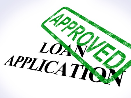 Loan Application Approved Showing Credit Agreement