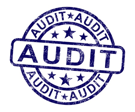 Audit Stamp Shows Financial Accounting Examination Or Analysis
