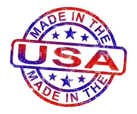 Made In USA Stamp Showing  American Products Or Produce