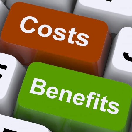 Costs Benefits Keys Show Analysis And Value Of An Investment