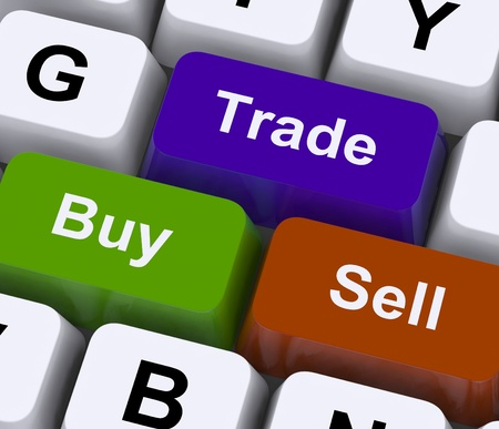 Buy Trade And Sell Keys Representing Commerce Online