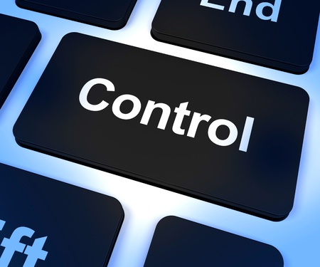 Control Computer Key Shows Remote Controller Or Interfacing