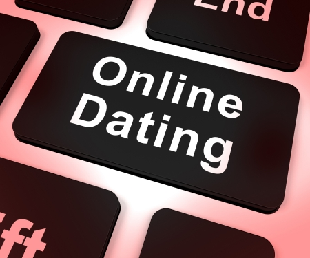 Online Dating Computer Key Shows Romance And Web Love