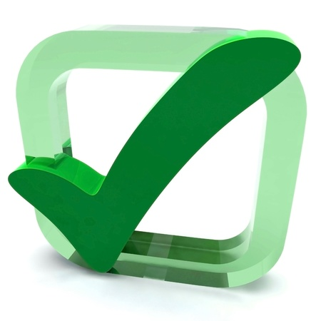 Green Tick Showing Quality Excellence Approved Passed Satisfied