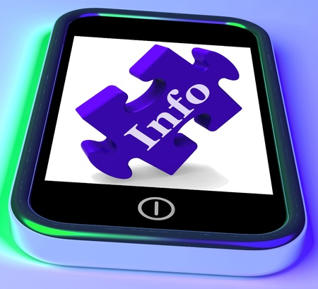 Info On Smartphone Shows Information Providing And Advisory