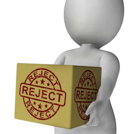 Reject Stamp On Box Showing Rejection Or Denied Product