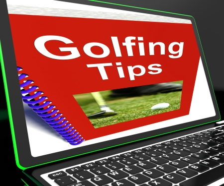 Golfing Tips On Laptop Shows Golfing Advices And Suggestions