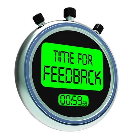 Time For feedback Meaning Opinion Evaluation And Surveys