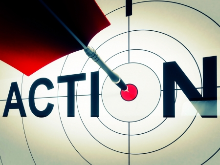 Action Target Shows Active Motivation, Drive Or Proactive