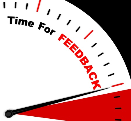 Time For feedback Represents Opinion Evaluation And Surveys