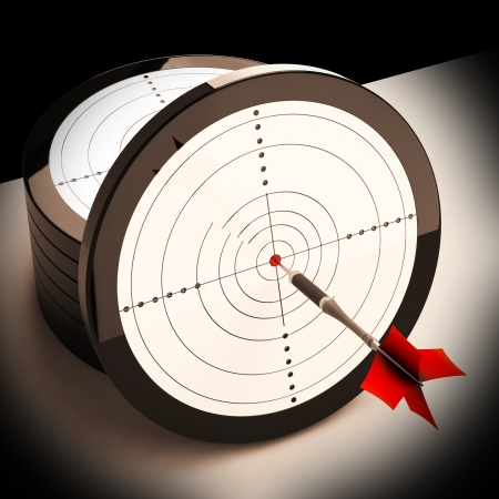 Dart Target Showing Focused Successful Accurate Goal