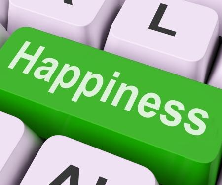 Happiness Key On Keyboard Meaning Pleasure Delight Or Joy