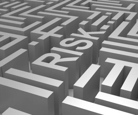 Risk Maze Shows Dangerous Unstable Or Risky