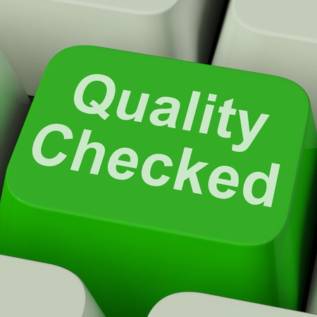 Quality Checked Key Showing Product Tested Ok